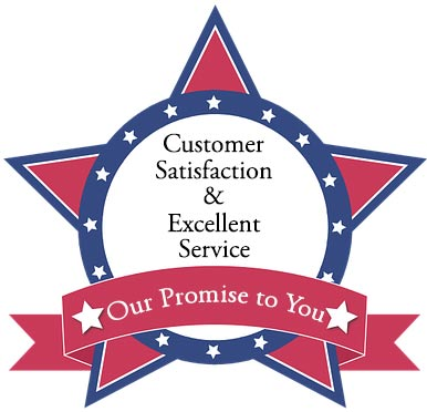 our promise to you customer satisfaction and excellent service
