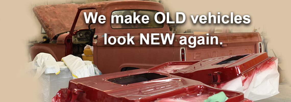 vintage car that has been restored